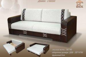 Диван Техас (еврокнижка) - Мебельная фабрика «Росмебель»