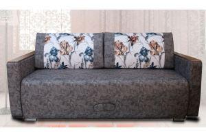 Диван темный с подушками Лира 1 - Мебельная фабрика «Велес»
