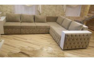 Диван угловой большой бежевый - Мебельная фабрика «Мебельный клуб»