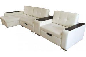 Диван угловой Максимус-5 с нестандартным общим локтем - Мебельная фабрика «Сеть-М»