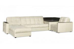 Диван угловой Сидней 155 с полкой и оттоманкой - Мебельная фабрика «Цвет диванов»