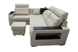 Диван угловой Неаполь с подголовниками и баром - Мебельная фабрика «FAVORIT COMPANY»