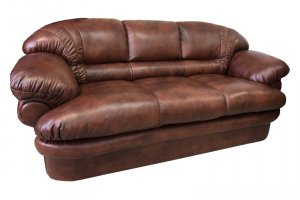 Прямой диван Венеция кожаный - Мебельная фабрика «Финнко-мебель»