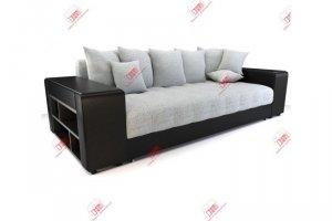 Дубай Грей прямой диван еврокнижка - Мебельная фабрика «DiHall»