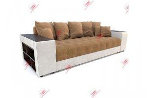 Дубай Карамель прямой диван еврокнижка - Мебельная фабрика «DiHall»