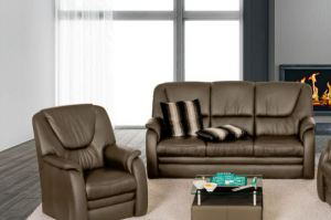 Двухместный кожаный диван Emden - Импортёр мебели «Рес-Импорт»