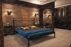 Двухспальная металлическая кровать Марко - Мебельная фабрика «Стиллмет»