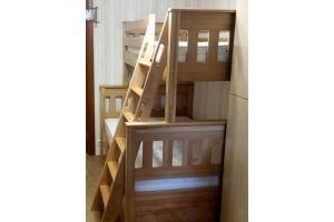 Двухъярусная деревянная детская кровать - Мебельная фабрика «Лисер»