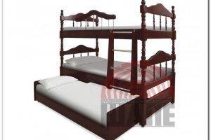 Двухъярусная кровать Альбион махагон - Мебельная фабрика «ВМК-Шале»