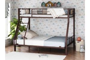 Двухъярусная кровать Гранада-1 140 коричневый - Мебельная фабрика «Формула мебели»
