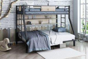 Двухъярусная кровать Гранада черный айленд - Мебельная фабрика «Формула мебели»