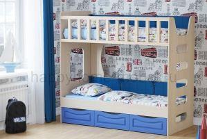 Двухъярусная кровать HAPPY KIDS LITTLE 2 LUX - Мебельная фабрика «Happy home»