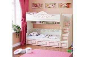Двухъярусная кровать HAPPY KIDS ROME 5 - Мебельная фабрика «Happy home»