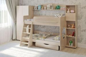 Двухъярусная кровать Легенда 25.5 - Мебельная фабрика «Легенда»