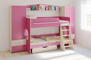 Двухъярусная кровать Легенда 25.6 - Мебельная фабрика «Легенда»