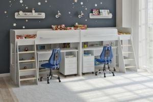 Двухъярусная кровать Легенда 26.4 белая - Мебельная фабрика «Легенда»