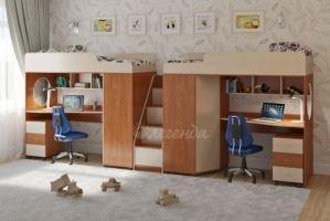 Двухъярусная кровать Легенда 4.5 (1900x800) - Мебельная фабрика «Легенда»