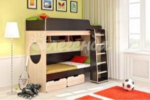 Двухъярусная кровать Легенда 7.1 - Мебельная фабрика «Легенда»