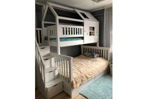 Двухъярусная кровать массив Лейла - Мебельная фабрика «Дубрава»