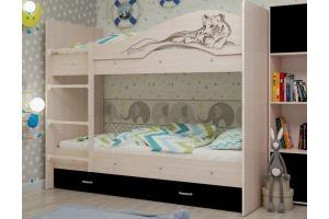 Двухъярусная кровать Мая Сафари - Мебельная фабрика «ТМК (Техномебель)»