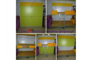 Двухъярусная кровать откидные Аделия NEW  - Мебельная фабрика «МебельГрад (мебель трансформер)»