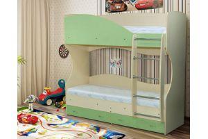 Двухъярусная кровать Радуга-8 - Мебельная фабрика «Уютный Дом»