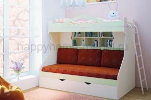 Двухъярусная кровать  с диваном HAPPY KIDS SOFT - Мебельная фабрика «Happy home»