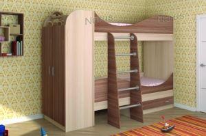 Двухъярусная кровать со шкафом - Мебельная фабрика «НАРУС»