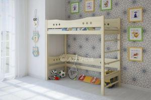 Двухъярусная кровать со шведской стенкой Легенда 20 - Мебельная фабрика «Легенда»