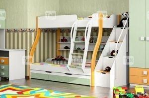 Двухъярусная кровать Tracy Green - Мебельная фабрика «ТомиНики»
