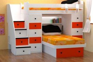 Двухъярусная кровать в детскую - Мебельная фабрика «Передовые технологии дизайна»