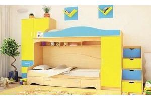 Двухъярусная кровать в детскую Ким - Мебельная фабрика «Мир Нестандарта»