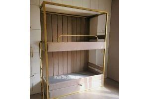 Двухъярусная кровать в мягкой оббивке - Мебельная фабрика «Sitdown»