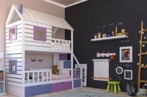 Двухъярусная кроватка-домик - Мебельная фабрика «RuLes»