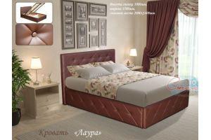 Двуспальная кровать Лаура - Мебельная фабрика «Евростиль»