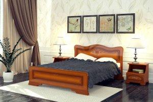 Двуспальная кровать Лилия - Мебельная фабрика «DM- darinamebel»