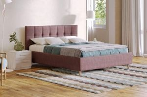 Двуспальная кровать с мягким изголовьем BELLA - Мебельная фабрика «СОНУМ»