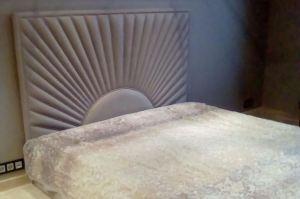 Двуспальная кровать с высоким мягким изголовьем - Мебельная фабрика «Элит-диван»