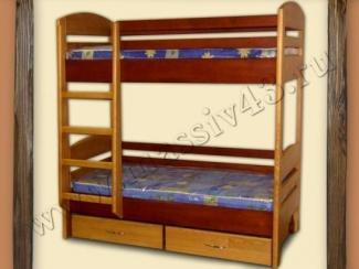 Кровать двухъярусная - Мебельная фабрика «Массив»