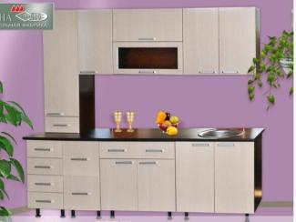 Кухня прямая Лилия DeLuxe 3 (МФД) - Мебельная фабрика «Элна»