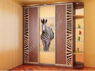 Шкаф-купе с фотопечатью Зебра  - Изготовление мебели на заказ «Игал»