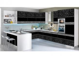Кухня угловая с рисунком из серебра - Мебельная фабрика «Мебель России»