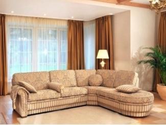 Угловой диван с круглой оттоманкой - Мебельная фабрика «POBEDA.»