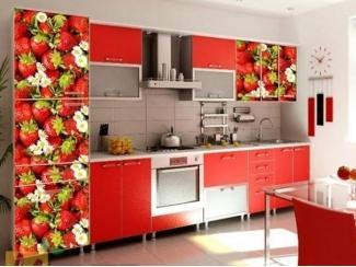 Прямая кухня Виктория с фотопечатью - Мебельная фабрика «Манго»
