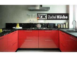 Кухонный гарнитур угловой Бонн Рэд - Мебельная фабрика «Zuchel Kuche»