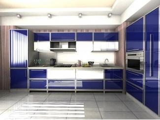 Угловая Синяя кухня - Мебельная фабрика «Гарант-Мебель»