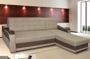 Угловой диван Катрин 9 (А) с оттоманкой