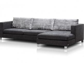 Темный угловой диван Наполеоне