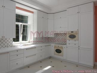 Кухня угловая Встроенная белая эмаль - Мебельная фабрика «Маруся мебель»