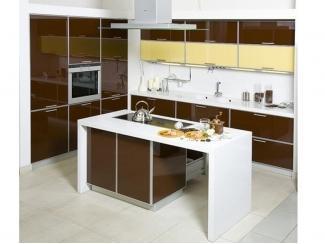 Кухня пластик в алюминиевой рамке + стол Остров - Мебельная фабрика «Ренессанс»